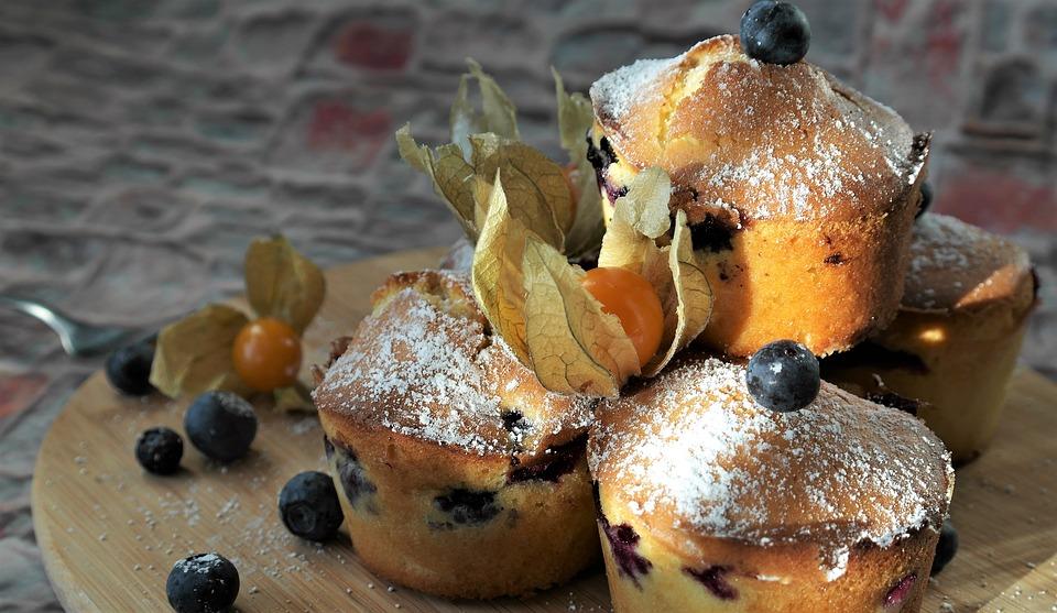 Jagodowe muffiny