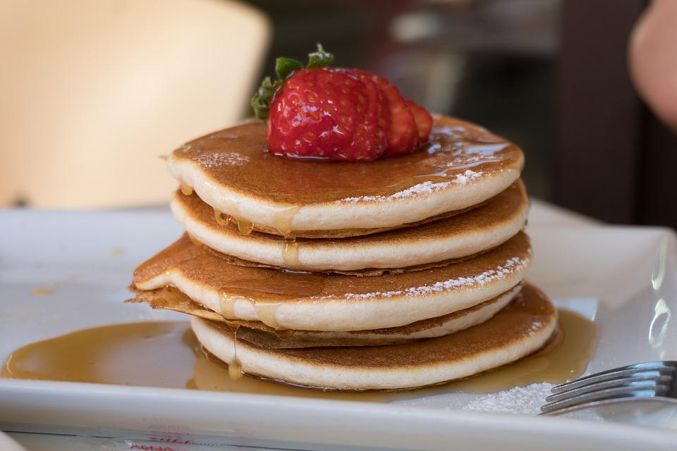 Pancakes z truskawkami