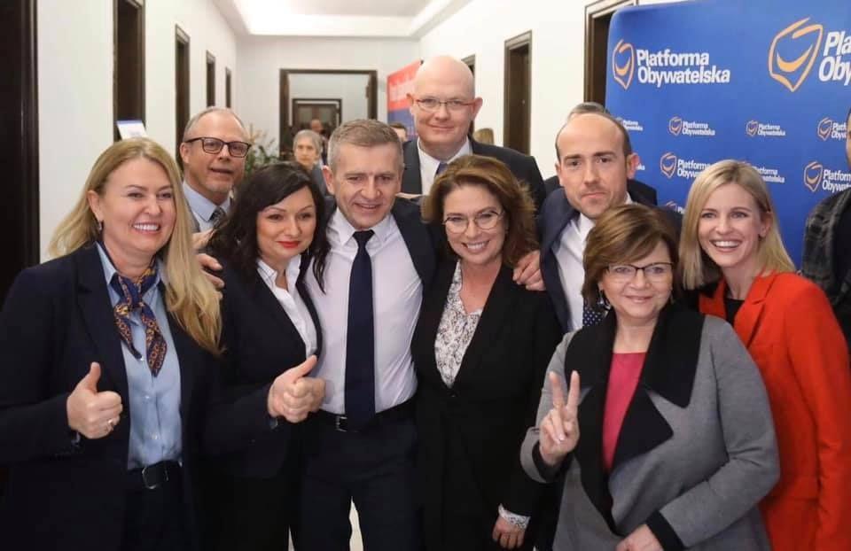 Izabela Leszczyna i Michał Gramatyka w sztabie wyborczym Małgorzaty Kidawy-Błońskiej - galeria