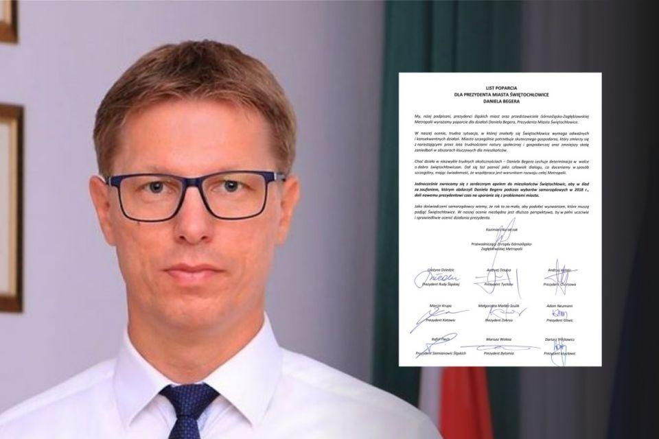 W Świętochłowicach zanosi się na referendum - prezydenci śląskich miast udzielili poparcia Danielowi Begerowi - galeria