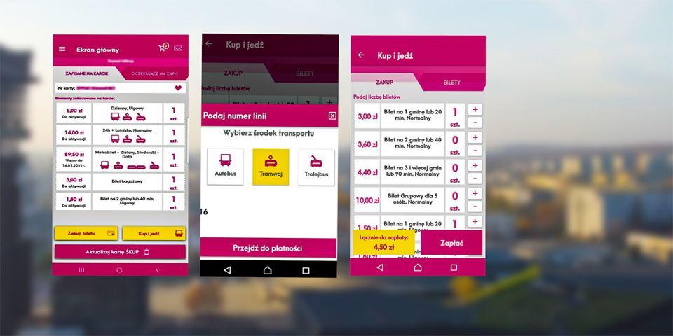 Usprawnienie dla użytkowników ŚKUP. Bilety miesięczne w aplikacji - galeria