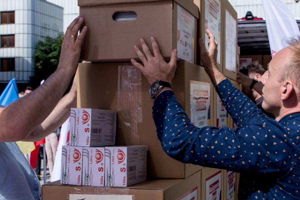 Województwo Śląskie organizuje akcję pomocową dla Ukrainy - galeria