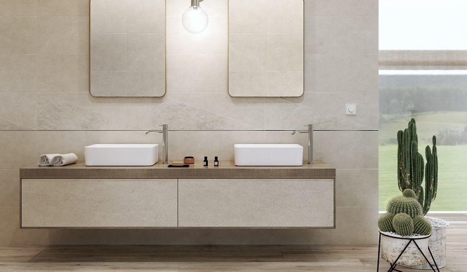 Dwie umywalki w łazience - kiedy warto mieć dwie umywalki obok siebie? - galeria