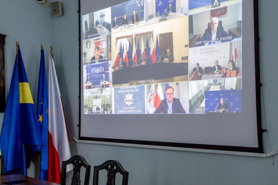 Śląscy samorządowcy uczestniczyli w wideokonferencji z udziałem premiera RP - galeria